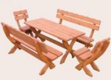 Záhradný nábytok sedenie smrek