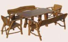 Záhradný nábytok sedenie dub 2