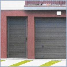 Brány garážové - hliníkové a oceľové jednokrídlové dvere