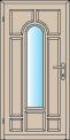 Venkovní dveře z masivu Hamburg