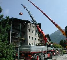 Poškodenie požiarom rodinný dom - upratovacie a demolačné práce