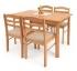 Dřevěné jídelní stoly a židle