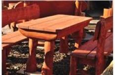 Stůl dřevěný fošnový