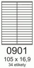 Samolepící štítky pro černobílý a barevný laserový tisk