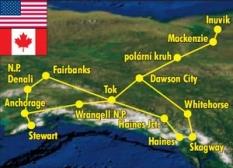 Zájezd Aljaškou a Yukonem v jeepech