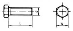 Normalizované skrutky so šesťhrannou hlavou, s jemným závitom po hlavu