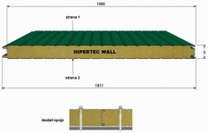 Sendvičový stenový panel - Minerálna vlna Hypertec wall