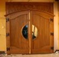 Garážová vrata, vjezdová vrata, dřevěná vrata