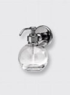 Dávkovač tekutého mydla so skleneným zásobníkom tvaru gule