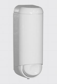 Mini biely dávkovač tekutého mydla