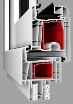 Balkónove dvere profil Standard