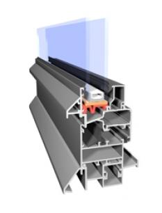 Hliníkové okná Aliplast systém Econoline