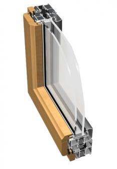 Hliníkové okná Ponzio NT93 Wood