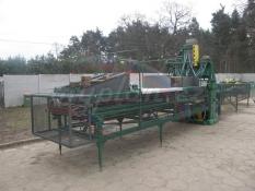 Mechanická linka na výrobu euro palet s volně nasypanými hřebíky