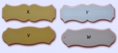 Dverné štítky z eloxovaného hliníka