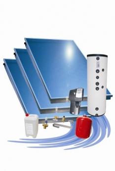 Solárna zostava Attack Solartherm 300 - pre rovnú strechu