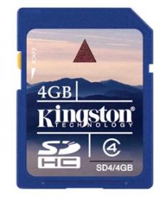 Pamäťová karta 4GB Secure Digital SDHC Kingston