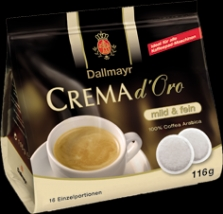 Dallmayr Crema d'Oro mild fein 116g balenie po 16 sáčkoch