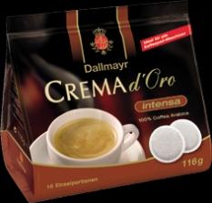 Dallmayr Crema d´Oro intensa 116g balenie po 16 sáčkoch