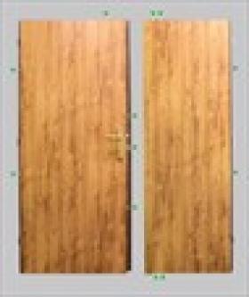 Bezpečnostní protipožární dveře D2F5/2