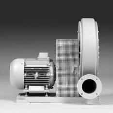 Vysokotlaké ventilátory s pohonem klínovými řemeny se základovou deskou
