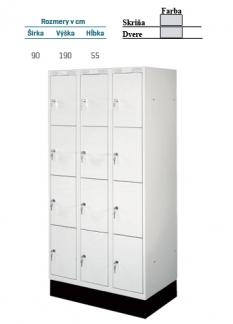Priehradková skrinka L071 900 12dv šedá