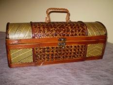 Ozdobná drevená krabica