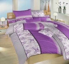 Povlečení bavlna - Medůza fialová