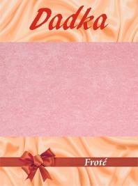 Froté prostěradlo - světle růžová A