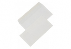 Obálky DL bez okienka, 110x220mm, silikónové, biele 80gr