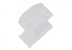 Obálky DL s okienkom 42x104mm, 110x220mm, olizové, biele 80gr