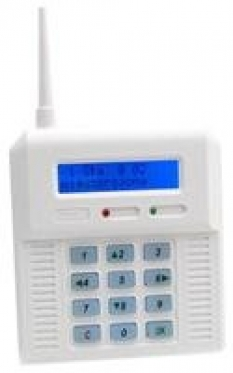 Alarm - Bezdrôtový systém Cb32 N - ústredňa s modrým podsvietením