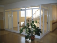 Interiérové ocelové dveře prosklené