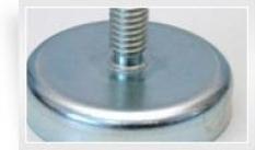 Magnetický prvok plochý s vonkajším závitom, Fe