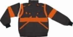 Blúza Lux eda montérková, čierno-oranžová