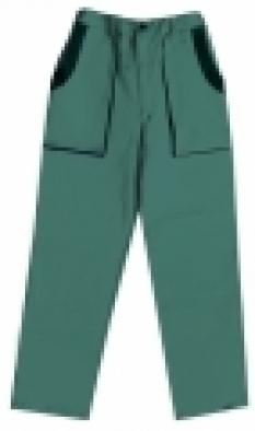 Nohavice Lux Jozef montérkové, zeleno-čierne