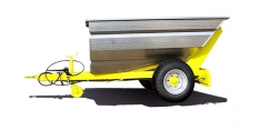 Big 2,1 - 3000 - nerezový jednostranný sklápěcí traktorový návěs