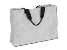 GRENADA nákupná taška z netkané textilie SANTINI, šedá