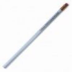 Drevená ceruzka s gumou, biela