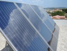 Mytí solárních panelů