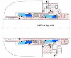 Mechanické upchávky na mieru pre čerpadla Typ 861