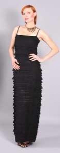 Šaty Femme - černé volánky