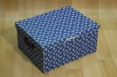 Dekoračné lakované škatule Blue Margherite
