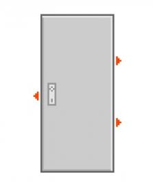 Dveře F6/2 Abloy