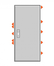 Dveře F6/3 Abloy