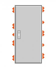 Dveře F6/4 Abloy