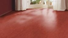 Podlahy z prírodného linolea - Rosso