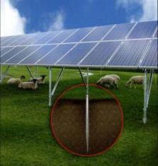 Zemní vruty pro solární panely, vruty do země pro solární panely