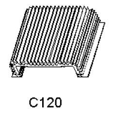Hliníkové chladiče C 120