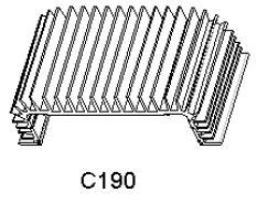 Hliníkové chladiče C 190